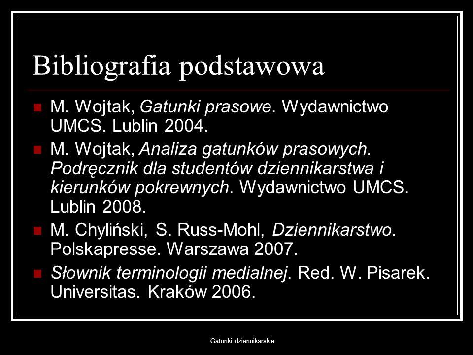 Bibliografia podstawowa