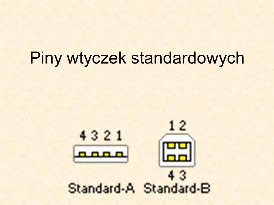 Piny wtyczek standardowych