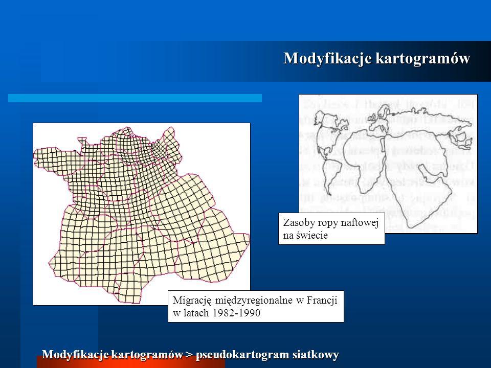 Modyfikacje kartogramów