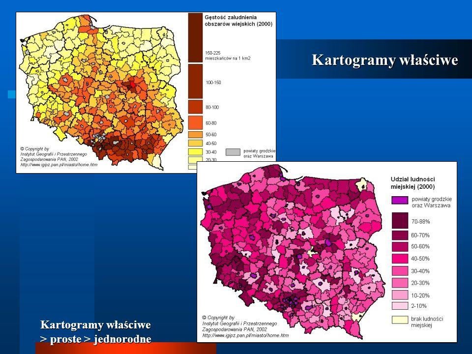 Kartogramy właściwe Kartogramy właściwe > proste > jednorodne