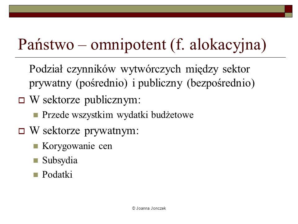 Państwo – omnipotent (f. alokacyjna)
