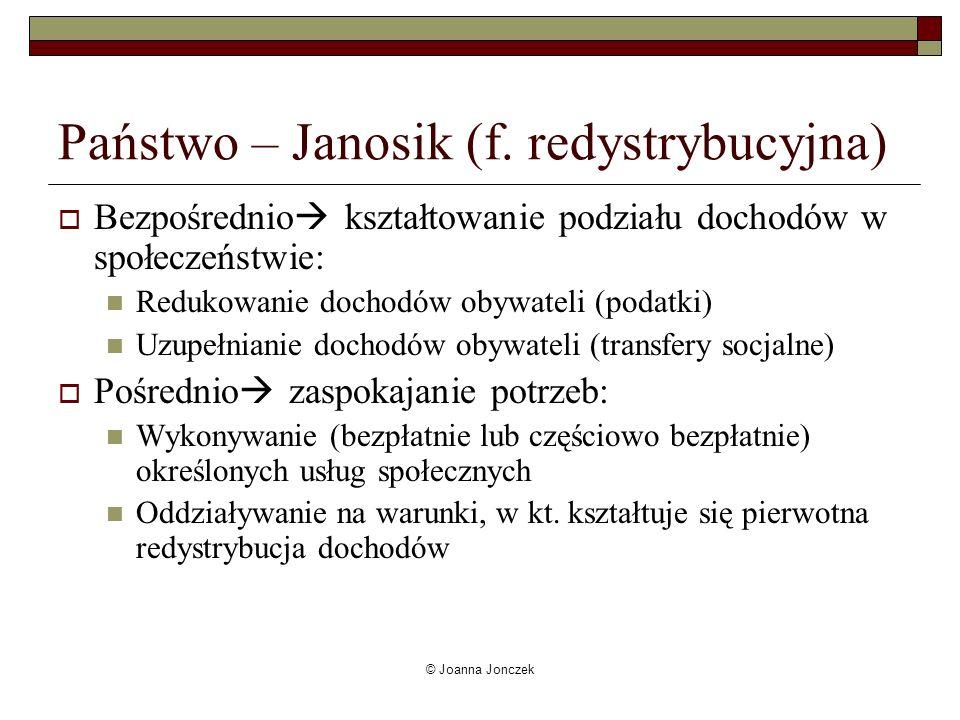 Państwo – Janosik (f. redystrybucyjna)