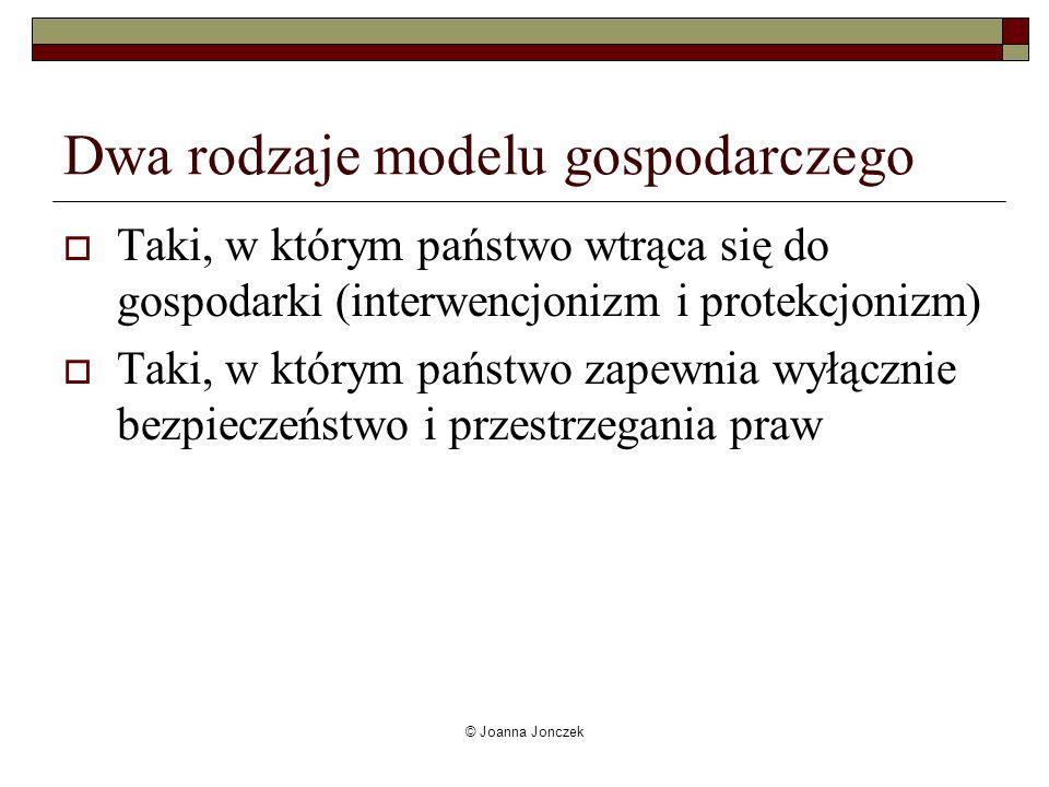 Dwa rodzaje modelu gospodarczego
