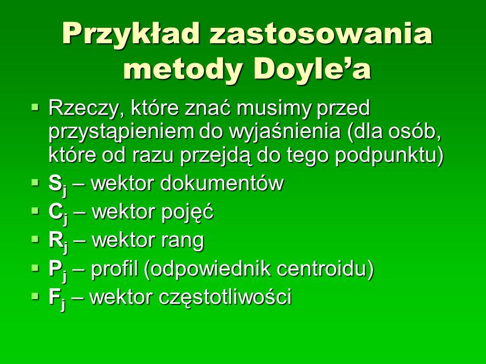 Przykład zastosowania metody Doyle'a
