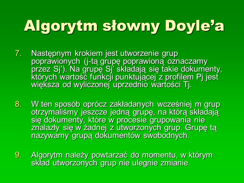 Algorytm słowny Doyle'a