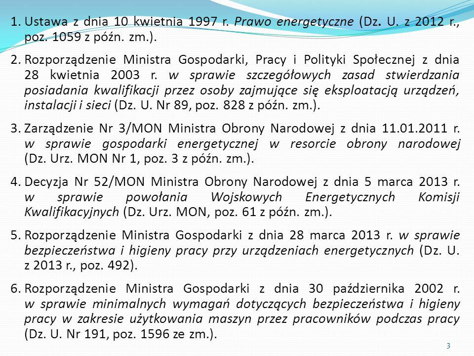 Ustawa z dnia 10 kwietnia 1997 r. Prawo energetyczne (Dz. U. z 2012 r