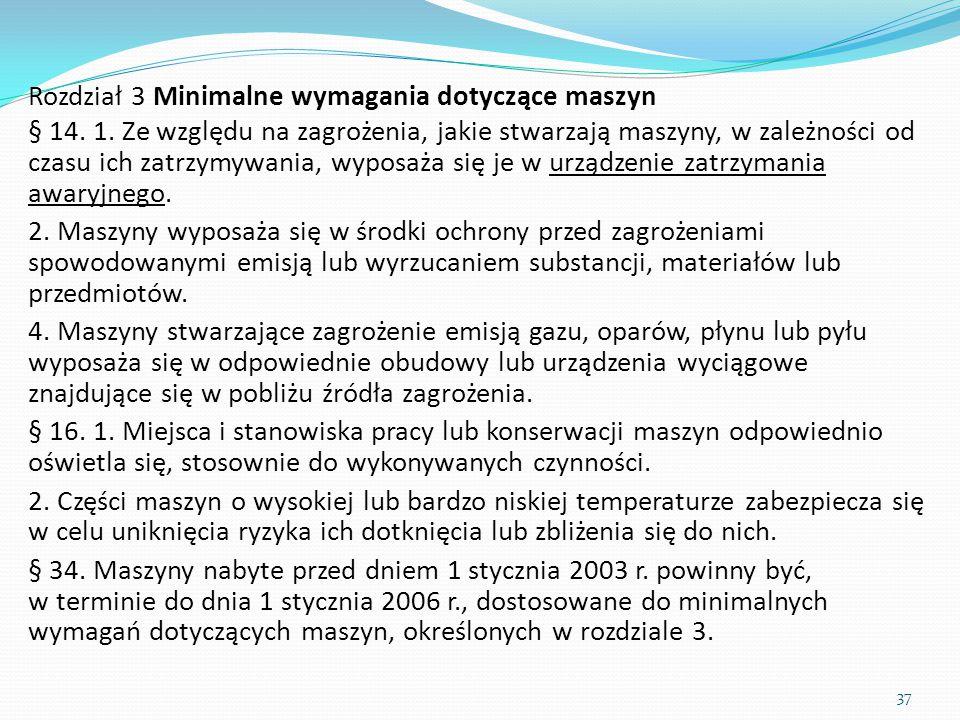 Rozdział 3 Minimalne wymagania dotyczące maszyn