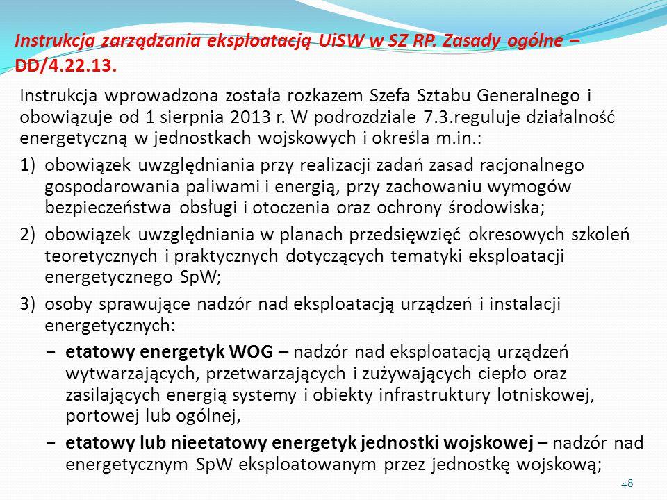 Instrukcja zarządzania eksploatacją UiSW w SZ RP. Zasady ogólne –DD/4