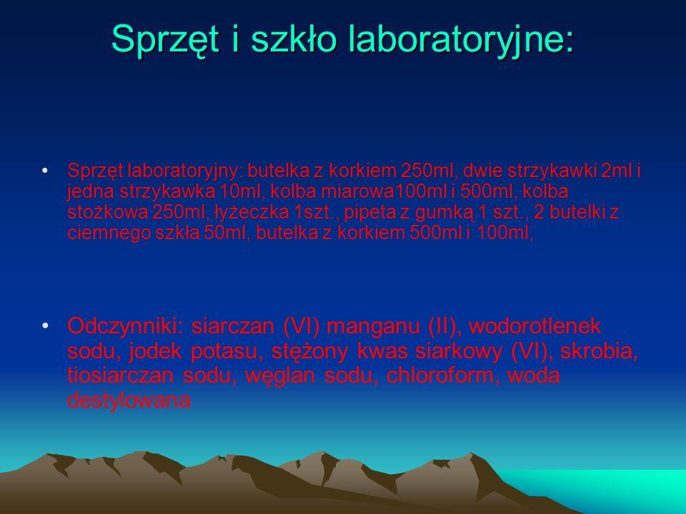 Sprzęt i szkło laboratoryjne: