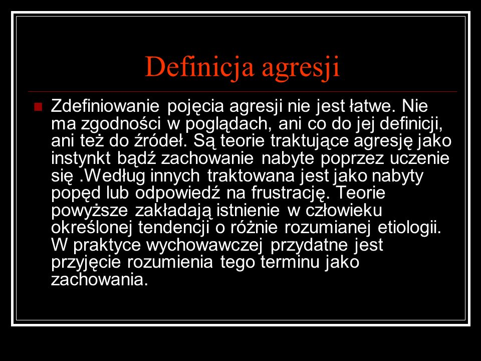 Definicja agresji