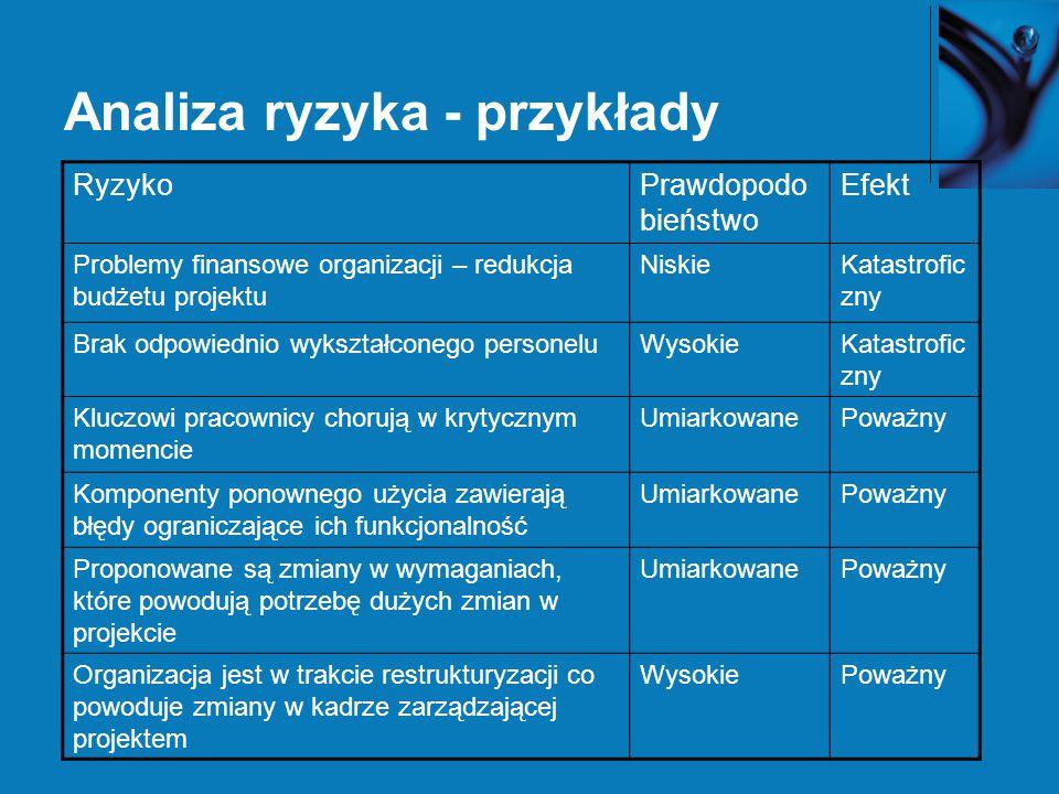 Analiza ryzyka - przykłady