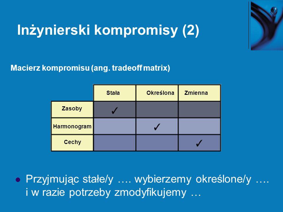 Inżynierski kompromisy (2)