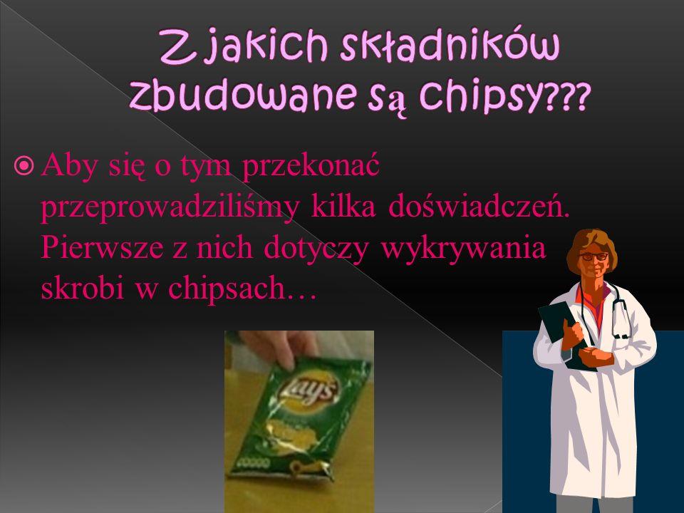 Z jakich składników zbudowane są chipsy