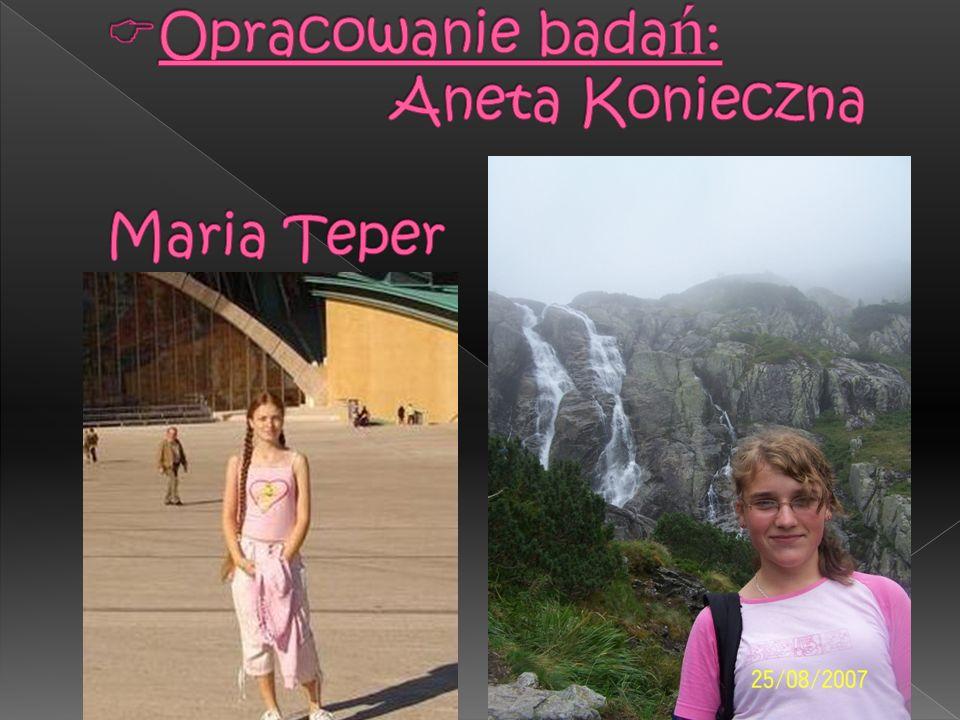Opracowanie badań: Aneta Konieczna Maria Teper