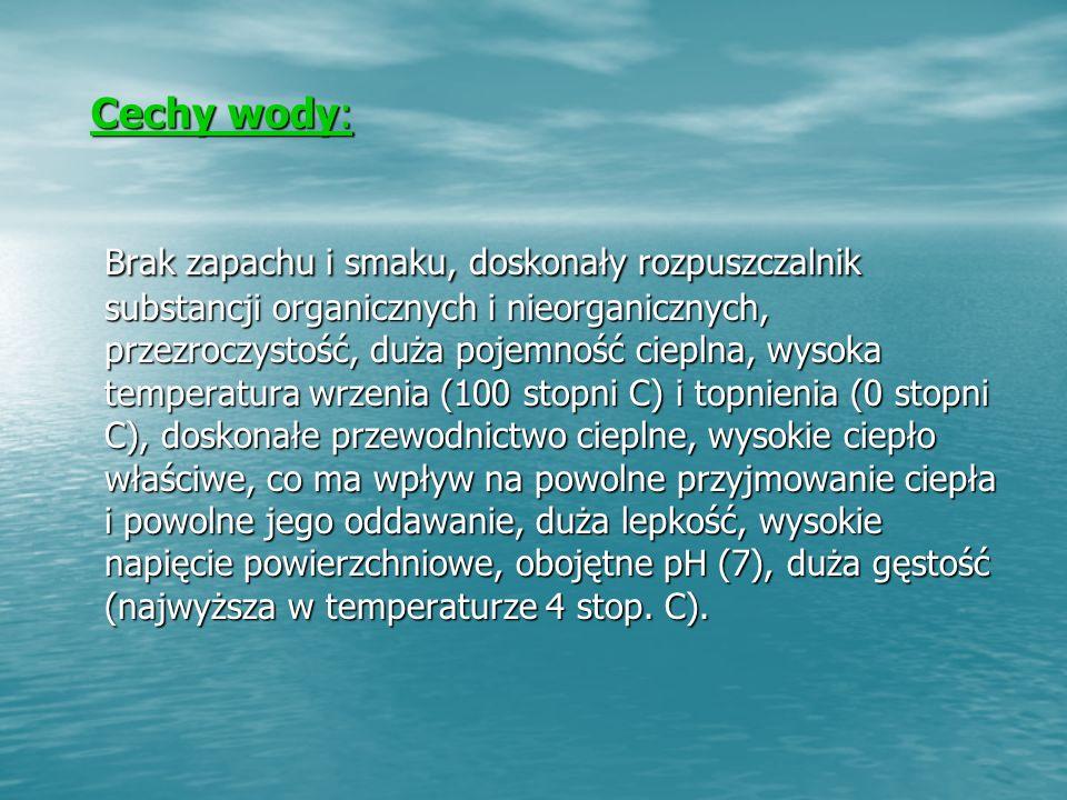 Cechy wody: