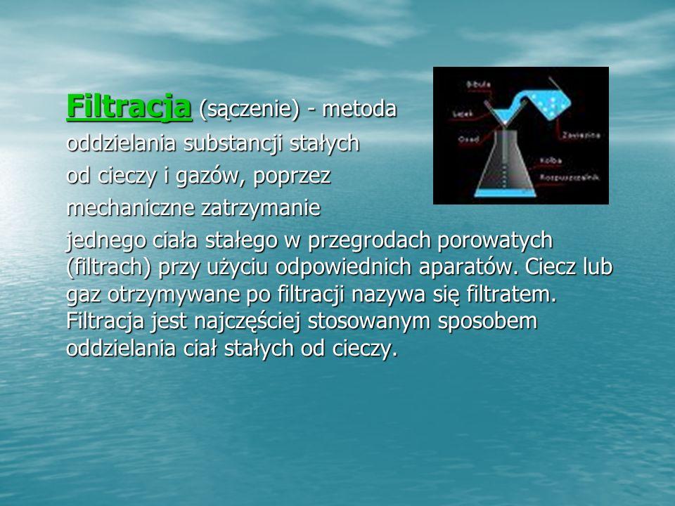 Filtracja (sączenie) - metoda