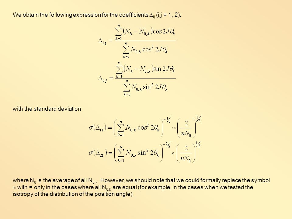 We obtain the following expression for the coefficients ij (i,j = 1, 2):