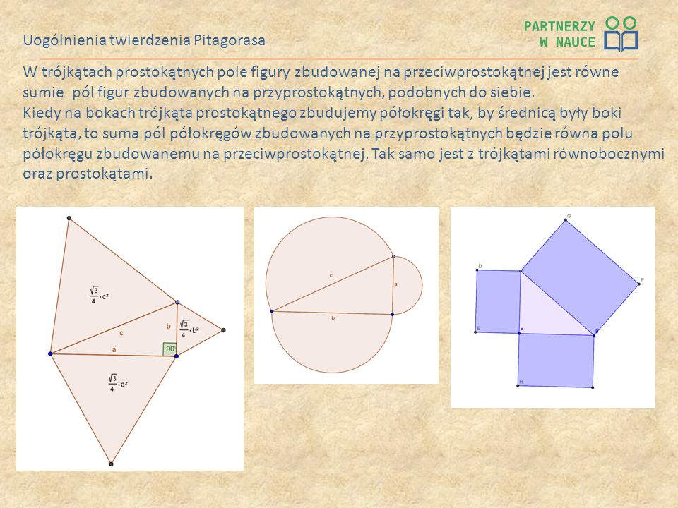 Uogólnienia twierdzenia Pitagorasa