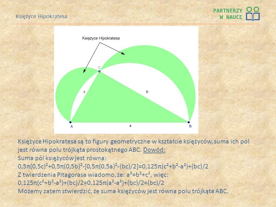 jest równa polu trójkąta prostokątnego ABC. Dowód: