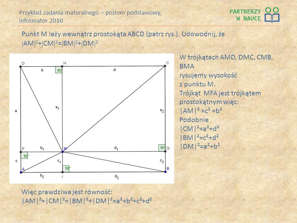 Przykład zadania maturalnego – poziom podstawowy, informator 2010