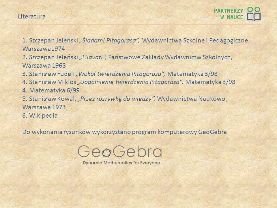 """3. Stanisław Fudali """"Wokół twierdzenia Pitagorasa , Matematyka 3/98"""