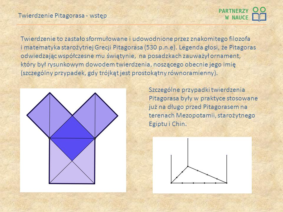 Twierdzenie Pitagorasa - wstęp