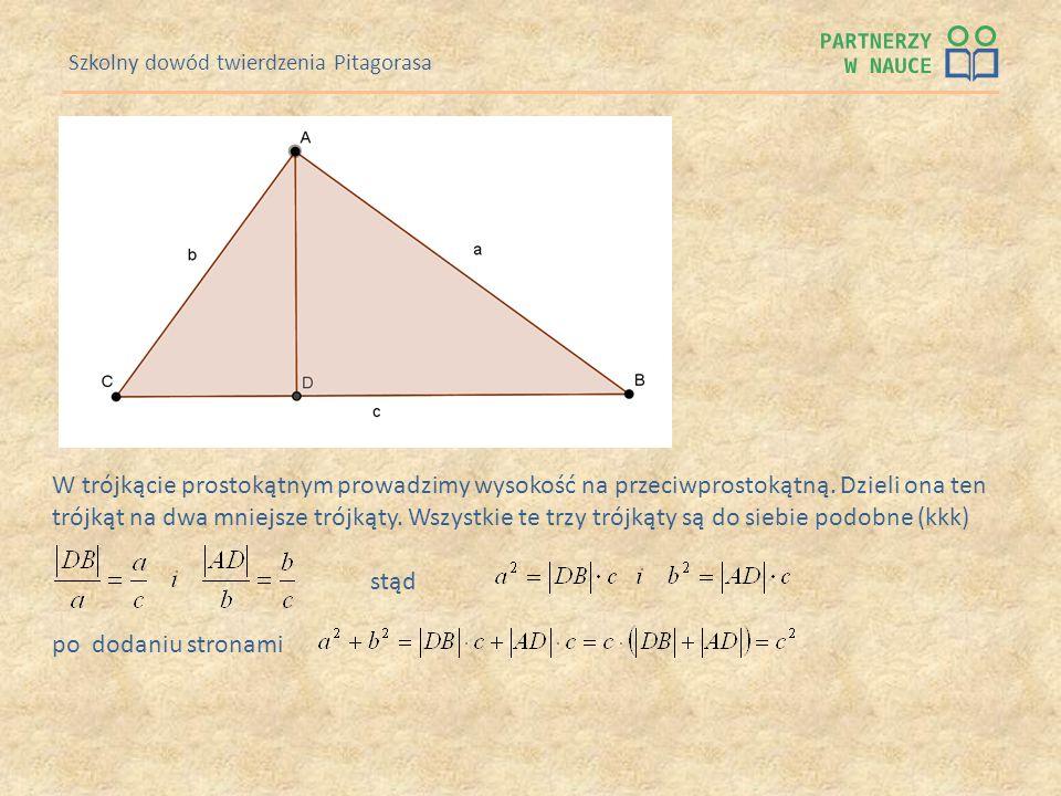 Szkolny dowód twierdzenia Pitagorasa