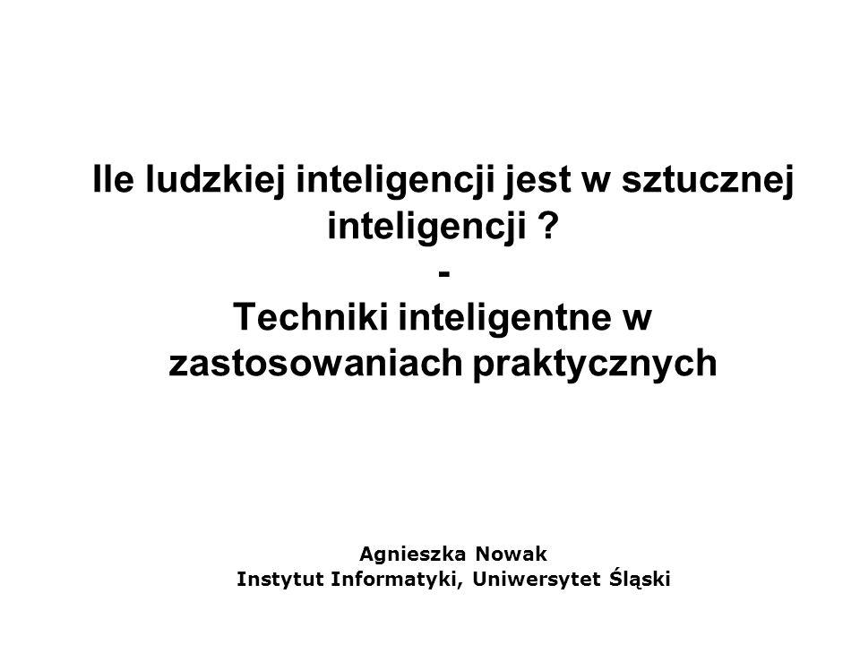 Agnieszka Nowak Instytut Informatyki, Uniwersytet Śląski