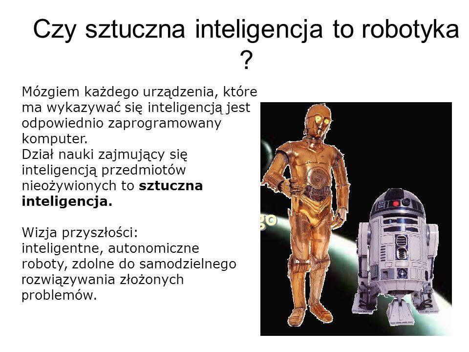 Czy sztuczna inteligencja to robotyka