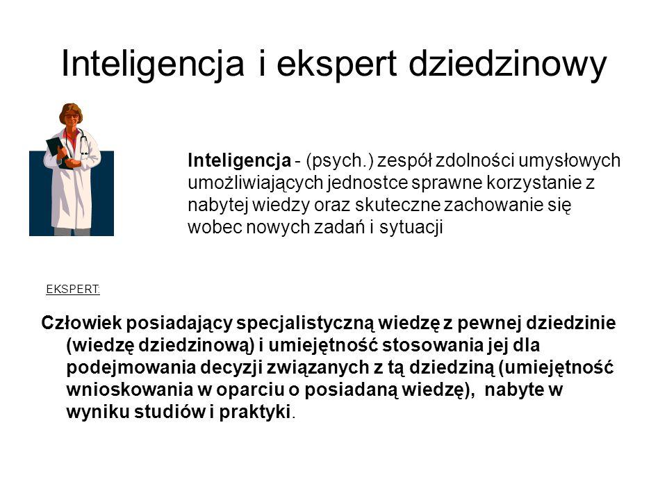 Inteligencja i ekspert dziedzinowy