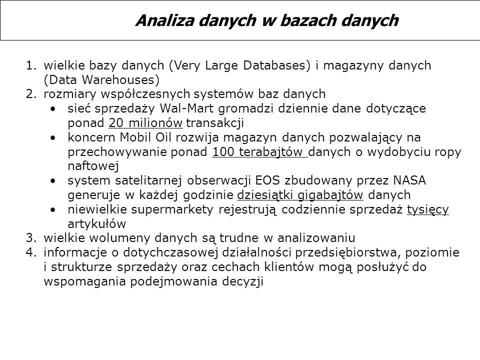 Analiza danych w bazach danych