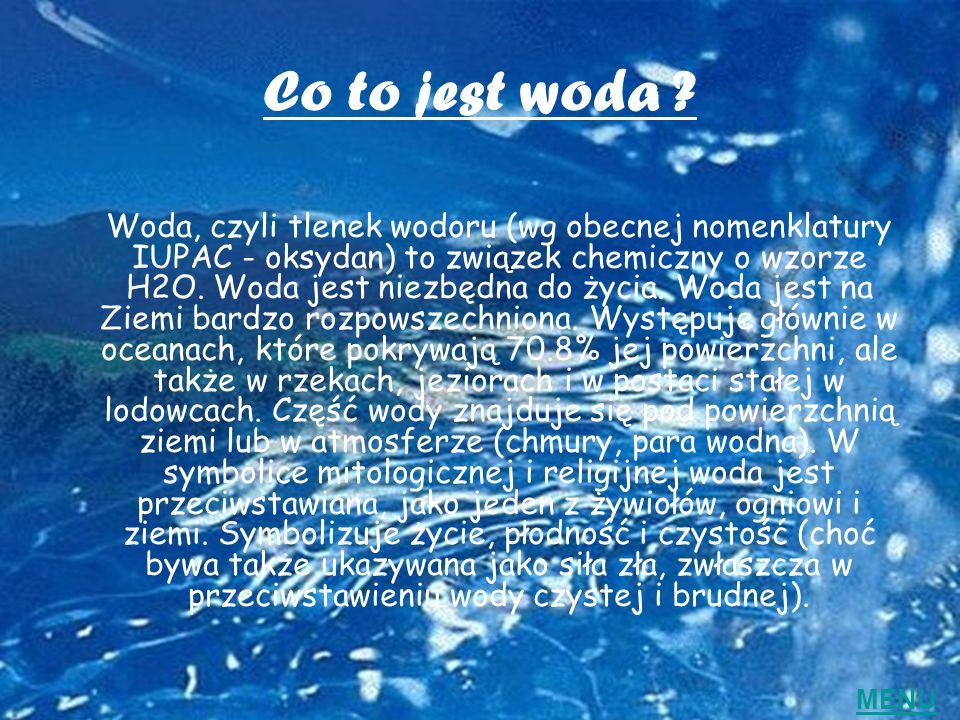 Co to jest woda