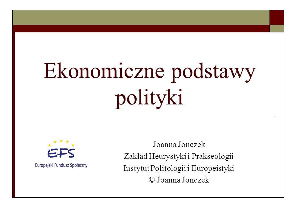Ekonomiczne podstawy polityki