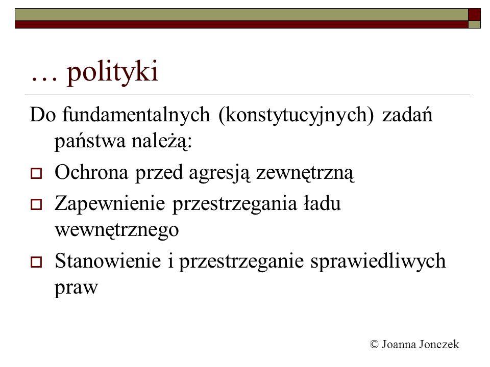 … polityki Do fundamentalnych (konstytucyjnych) zadań państwa należą: