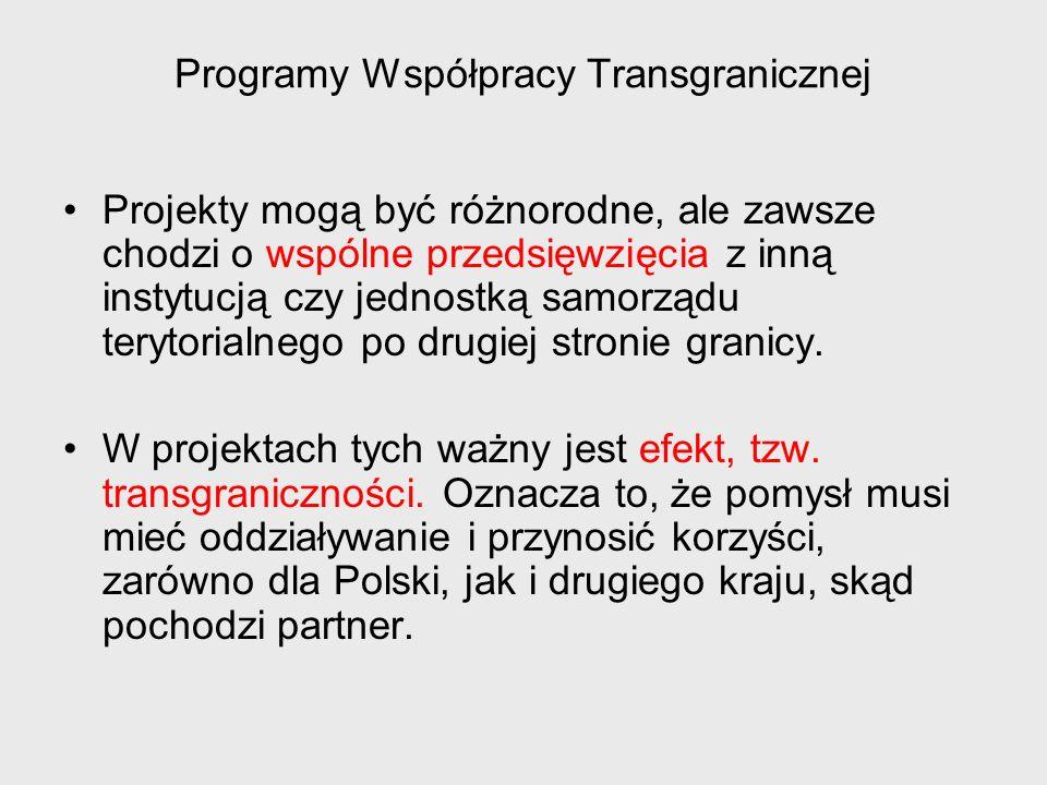 Programy Współpracy Transgranicznej