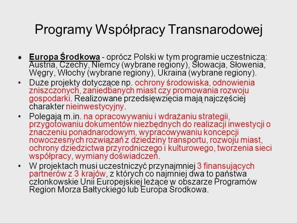 Programy Współpracy Transnarodowej