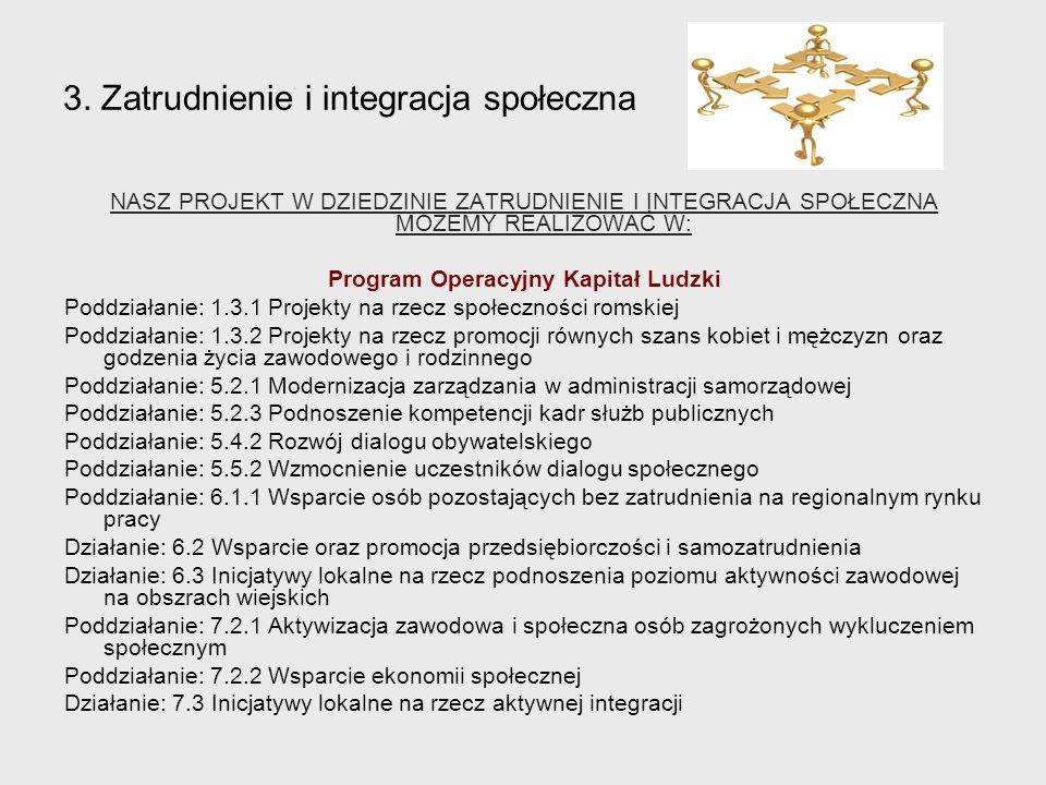 3. Zatrudnienie i integracja społeczna