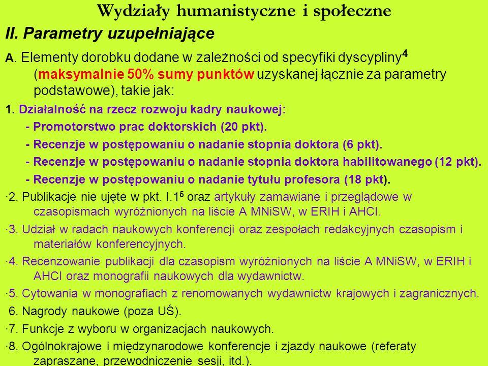 Wydziały humanistyczne i społeczne