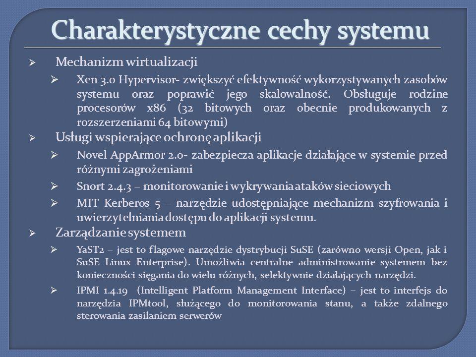 Charakterystyczne cechy systemu
