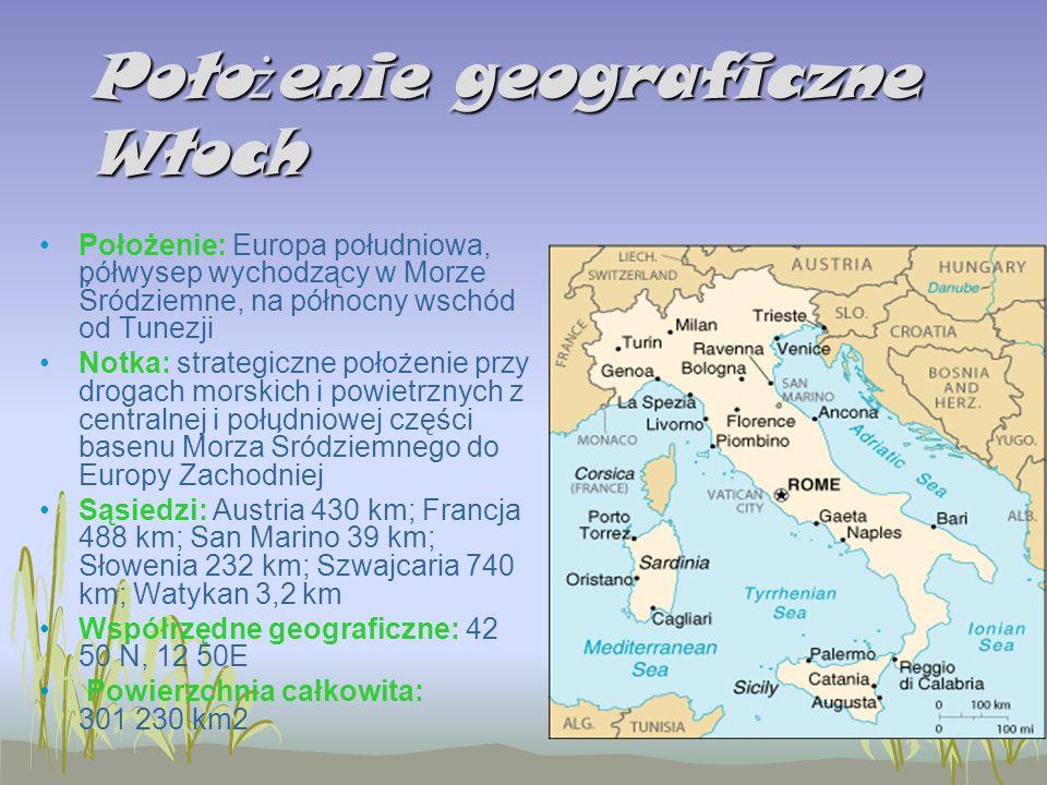 Położenie geograficzne Włoch