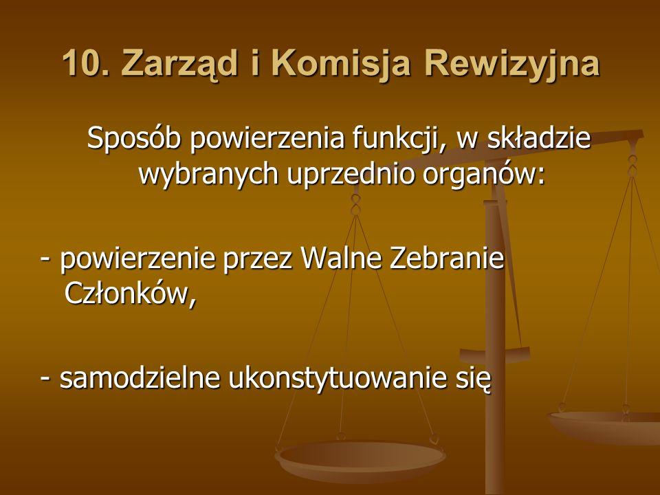 10. Zarząd i Komisja Rewizyjna