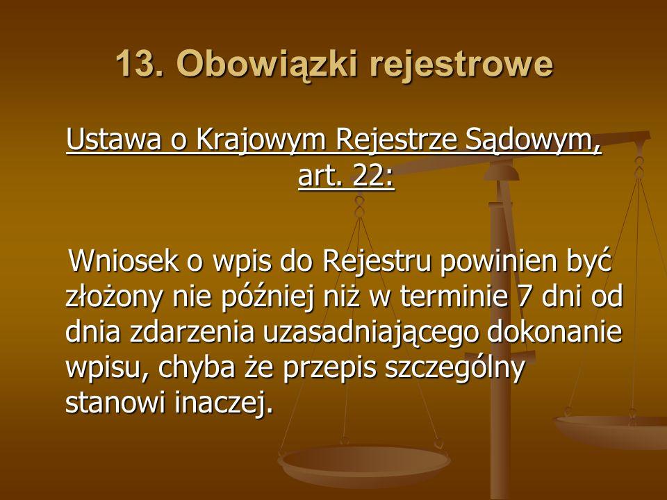 Ustawa o Krajowym Rejestrze Sądowym, art. 22: