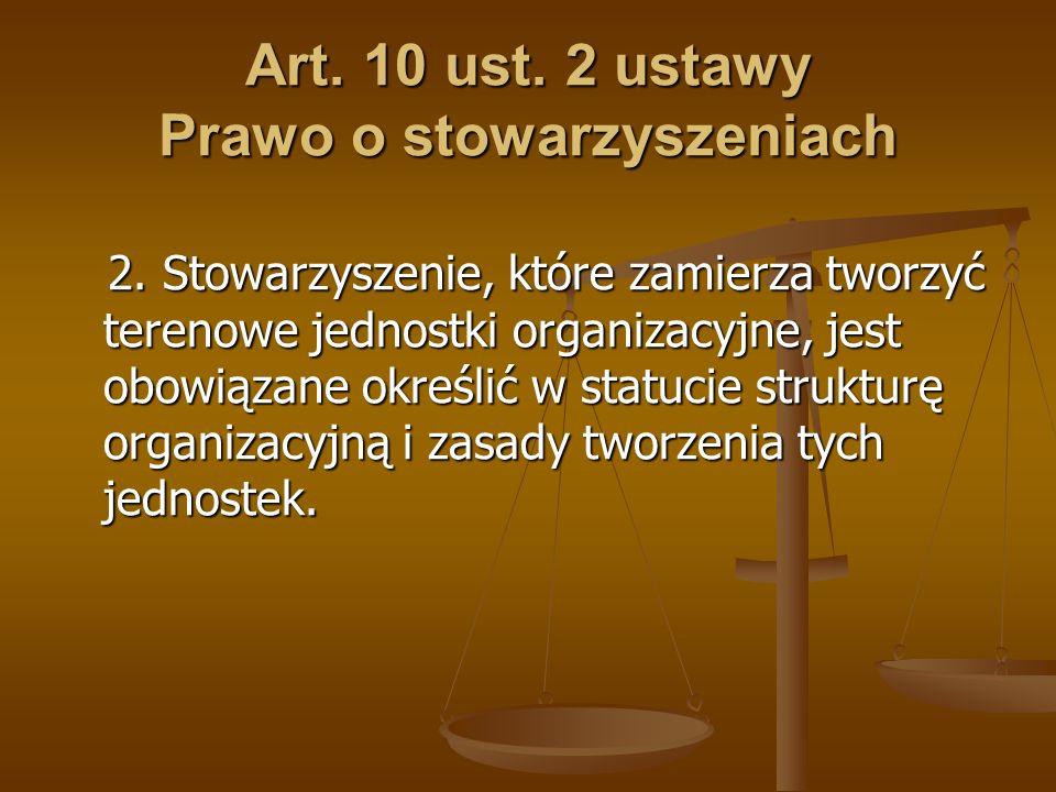 Art. 10 ust. 2 ustawy Prawo o stowarzyszeniach