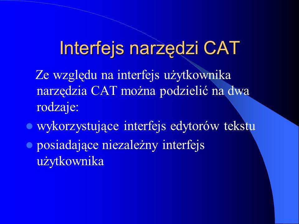 Interfejs narzędzi CAT