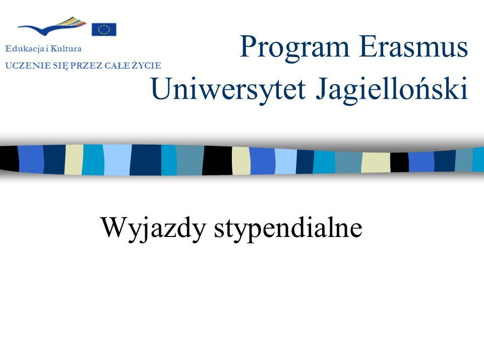 Program Erasmus Uniwersytet Jagielloński
