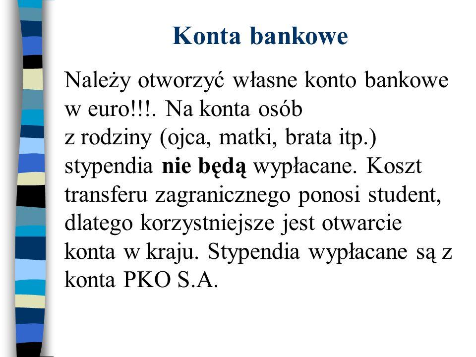 Konta bankowe