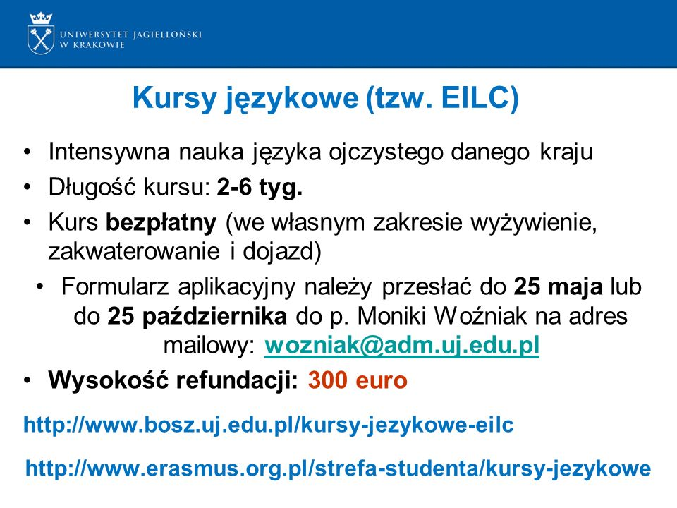 Kursy językowe (tzw. EILC)