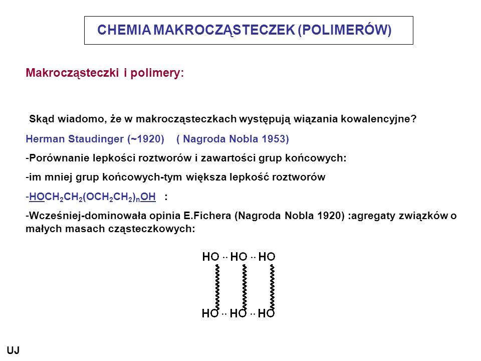 CHEMIA MAKROCZĄSTECZEK (POLIMERÓW)