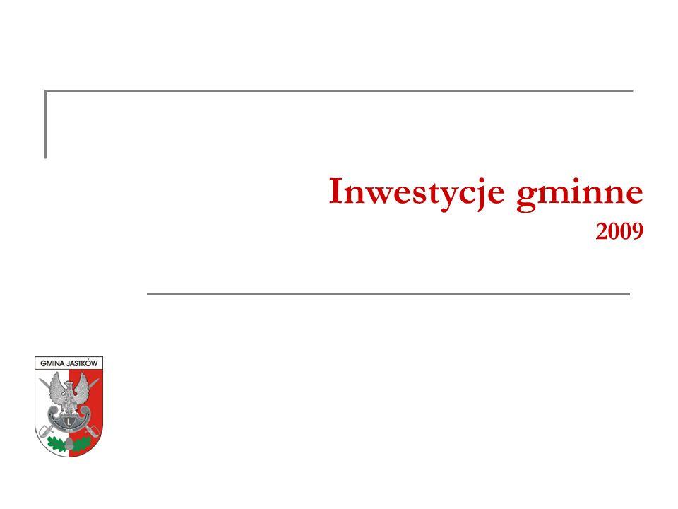 Inwestycje gminne 2009