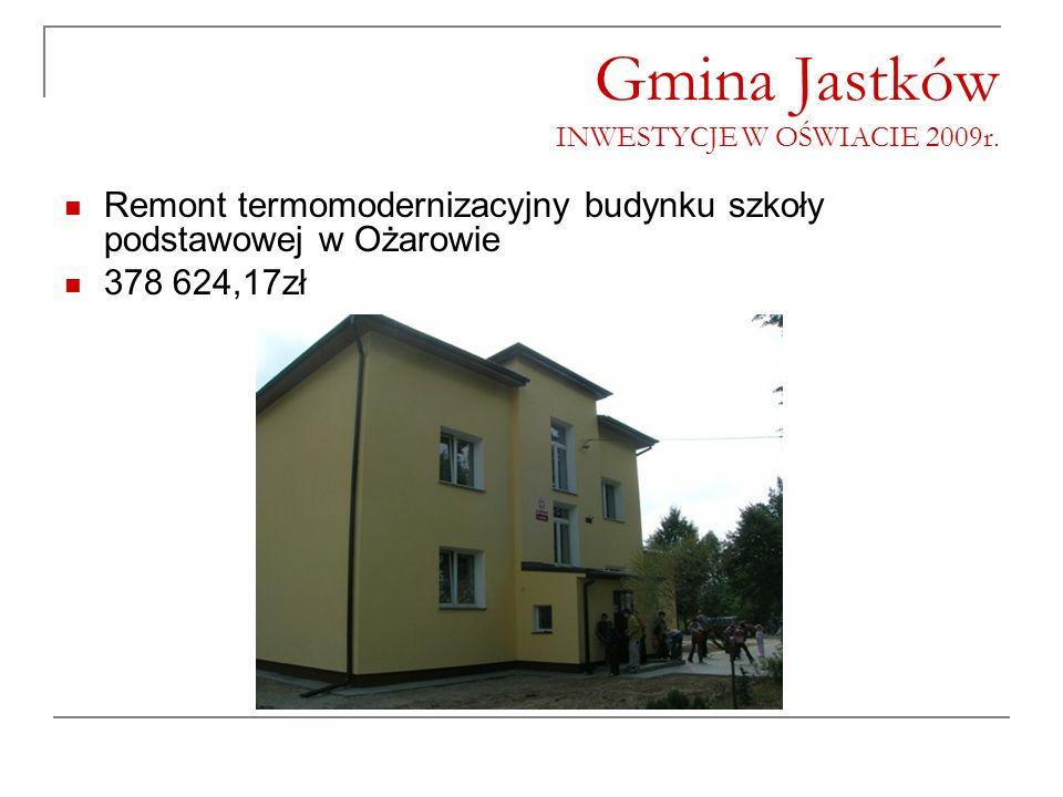 Gmina Jastków INWESTYCJE W OŚWIACIE 2009r.